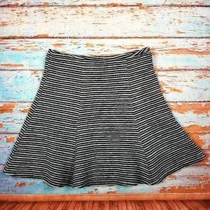 Maeve fr anthro black & gray circle skirt sz M
